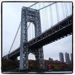 George Washington Bridge #georgewashingtonbridge #manhattan #newjersey... (Anders SB) Tags: bridge newyork newjersey manhattan hudsonriver georgewashingtonbridge aiany classicharborline architectualboattour uploaded:by=flickstagram instagram:photo=1123197975721243026202339955
