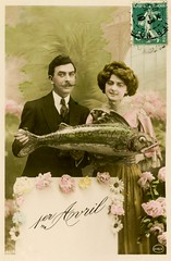 1er Avril (Alan Mays) Tags: old pink flowers fish france men green strange animals yellow portraits vintage ties french cards typography clothing women funny holidays suits humorous comic photos stamps antique humor ephemera clothes photographs handpainted postcards moustaches type april greetings unusual 1910 amusing handcolored 1910s fools fishes poisson fonts avril neckties tinted april1st aprilfools handtinted typefaces foundphotos greetingcards april1 aprilfoolsday poissondavril postagestamps rppc 1eravril aprilfish realphotopostcards circ