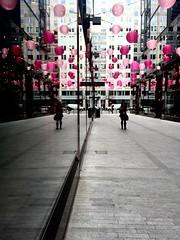 Layers (sunraa) Tags: pink reflections washingtondc patterns highcontrast odc iphoneography iphone6 lifeinlofi
