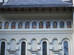Holy Trinity Cathedral in Vatra Dornei (Daniela E Popescu) Tags: park church mountaintown oldbuildings casino railwaystation romania chessplayers vatradornei feedingthepigeons derelictcasino foisor orchestrapavilion garadinvatradornei dornariver kidlookingattheorchestrapavilion