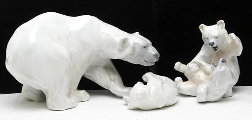 Royal Copenhagen Porcelain Polar Bears ($121.00)