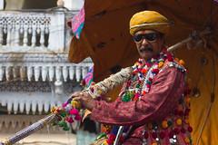 Shiva's Birthday Parade (rakerumotion) Tags: india man travelling indian traditional clothes traveling shiva pushkar rajasthan shivasbirthday cumpleaosdeshiva