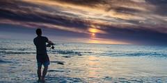 Sunset & Fishing2 (JamieMarie Oaksford) Tags: sunset seascape beach clouds landscape photography seaside fishing nikon sunsets australia coastline westernaustralia calmsea beachphotography jindalee nikond7000 jindaleebeach