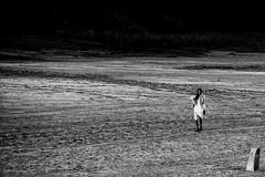 The walk home (Shashanka Nanda) Tags: people blackandwhite india tribal gujarat kutch rannofkutch