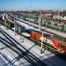 Bela estação de trem da transiberiana
