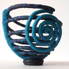 Spring Sprung Vessel (CreateMyWorldDesigns) Tags: sculpture spiral spring space vessel bowl negative clay coil challenge polymer pcagoe
