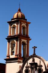 022 Belltower, Loreto Chapel (1700),  Plaza de Fundadores, San Luis Potosi (davidvictor513) Tags: mexico unescoworldheritagesite sanluispotosi
