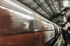 Next Station... (Antonio Fernndez photography) Tags: travel red urban london station canon underground londres