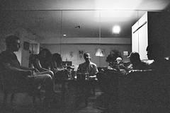 Ilford XP2 4-16 11 (LanceAdkinsPhotography) Tags: birthday street friends party portrait blackandwhite plants sun white black tree film contrast forest photo long exposure walk cincinnati group streetphotography down run grill xp2 flare ilfordxp2 ilford buiding ilfordxp2super400 super400