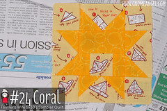 gnomeangel-farmers-wife-1930-block-24-coral (gnomeangel) Tags: modern quilt quilting patchwork tutorial farmerswife fussycutting gnomeangel fussycuttersclub farmerswife1930