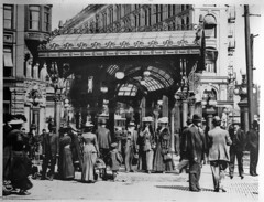 Crowd under pergola in Pioneer Square 1910 (Seattle Department of Transportation) Tags: seattle 2001 history glass truck iron anniversary historic repair transportation archives oops pioneersquare municipal rebuild pergola tbt rememberwhen sdot throwbackthursday julianeverett