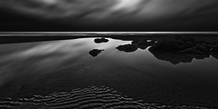 Dawn at Low Tide on a Cloudy Day (josesuro) Tags: fineart sunrise jaspcphotography afsdxzoomnikkor1224f4gifed 2011 longexposure florida beach digital palmcoast bw landscapes nikond300 cameras locations camerasandlenses lenses