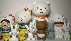 The FluffyHouse Family (Lawdeda ) Tags: bear family cute bunnies naughty toys rainbow designer adorable ducks momiji ms unusual ordinary suspects treeson fluffyhouse picmonkey