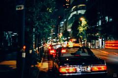 Yesterday (yasu19_67) Tags: street film japan analog neon cityscape bokeh taxi osaka nightview 40mm photooftheday filmphotography konicaminoltacenturia200 filmism yashicaelectro35glcoloryashinondx40mm17