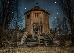 Crematorium in the starlight (MMGrafix) Tags: road camera old trip light urban color art abandoned rotting beautiful beauty grave architecture night germany stars dayofthedead death photo still interesting nikon europe die photographer shadows silent darkness dynamic decay live empty exploring awesome explorer gothic ruin corridor atmosphere tags beta best adventure forgotten processing rusting waste exploration schloss derelict retouching decayed verlassen buillding urbex disappear verfall rework interetingness