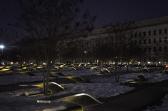 9/11 Pentagon Memorial (hms831) Tags: night washingtondc dc 911 pentagon 911pentagonmemorial sometimesieaticecreamfordinner