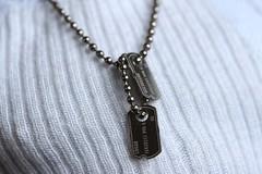 Logan's Dog Tags (ShellyS) Tags: miniature tag tags actionfigures logan macros wolverine hottoys macromondays
