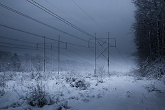 Winter Powerlines (Dacney) Tags: winter snow storm cold boston canon photography massachusetts snowstorm newengland powerlines 6d canon6d