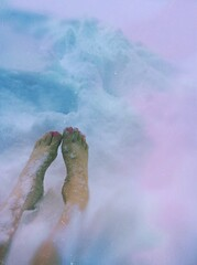 Swimming in Snow (BLACK EYED SUZY) Tags: winter woman snow cold feet me toes deep tadaa jonas blizzard mextures