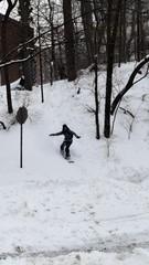 Adams Mill Road Snowboarder (misskmarshy) Tags: snow washingtondc dc nationalzoo adamsmorgan snowboarder flickrexplore snowzilla lanierheights