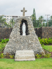 Saint Michael the Archangel (melastmohican) Tags: city travel vacation usa white building tree church saint architecture island temple hawaii drive bay coast michael town big worship catholic village pacific faith religion front palm holy hawaiian archangel kona kailua alii