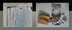 Notes Concept Timeline / As my pencil case was stolen at work I had to buy new pencils and leads Tagebuch Tapisserie provisorisches Seitenteil 2 Notizen Konzept Timeline / mein Federpennal wurde in der Arbeit gestohlen: Stifte, Minen kaufen (hedbavny) Tags: world vienna wien wall work bag austria sketch sterreich mine theater time theatre wand diary note memo envelope letter mailart weaver schrift arbeit farbe magnet weave tagebuch weber konzept tapestry zettel zeit mauer paperbag welt sanguine tasche workingroom werkstatt tapisserie tte buntstift handschrift weis skizze werkzeug notiz sidepanel radiergummi schreibwaren weben sackerl kuvert schreibzeug briefumschlag druckbleistift radierer seitenteil bsner papiersackerl workingchamber mastnak teppichweber hedbavny drehbleistift ingridhedbavny fallminenstift schmierpapier lateralsection unterlegung