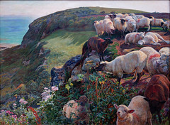 Hunt, Our English Coasts ('Strayed Sheep'), 1852