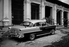 Trinidad, Cuba (EXPLORED) (Katrina Wright) Tags: cuba trinidad oldcar bw mono nb explored dsc0903