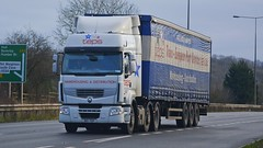 N15 TEP (panmanstan) Tags: truck wagon yorkshire transport renault lorry commercial vehicle premium freight haulage hgv southcave a63 curtainsider