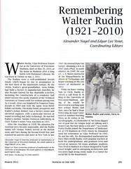 Remembering Walter Rudin (1921 - 2010) (ali eminov) Tags: journals mathematicians remembrances organizations americanmathematicalsociety walterrudin noticesoftheamericanmathematicalsociety