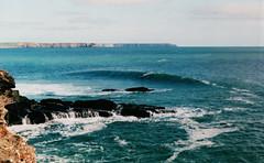 Porthleven, Autumn 2014 (hughaustin) Tags: ocean sea outdoors cornwall surf waves surfing adventure explore 35mmfilm filmphotography porthleven