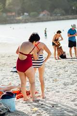 Eldest tourists (Olivia Gladys) Tags: ladies west beach sand tourists caribbean swimsuit indies eldest