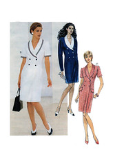 McCalls 8104 Coat Dress Sewing Pattern (findcraftypatterns) Tags: classic fashion uncut office with dress or coat royal style double size business suit tuxedo shawl elegant collar society alternative career sleeves breasted mccalls 8104 longshort 101214