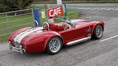 AC Cobra VNM 647 (BIKEPILOT) Tags: uk red classic car airport automobile cobra transport hampshire shelby vehicle ac sportscar airfield aerodrome blackbushe vnm647