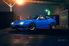 Mk4 Toyota Supra (Fyrebase) Tags: blue night docks toyota supra loadingbay mk4 lightpainted