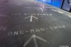 Follow the arrows (Red Cathedral is alive) Tags: show streetart graffiti floor sony arrow alpha dunkerque malo dunkirk malolesbains kursaal oneman etudiants fleche kursal duinkerke sonyalpha mirrorless a6000 kursaalpalaisdescongrs