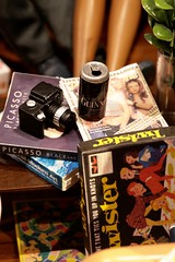 No 90s party is complete without boardgames and Guinness (moogirl2) Tags: miniatures hole hipster guinness picasso cannon twister 90s boardgames rollingstone candyland 90spopculture