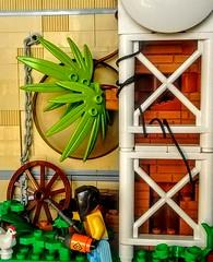 LEGO Chicken for Dinner (wesleyobryan) Tags: city chicken factory lego welding vignette apocalego