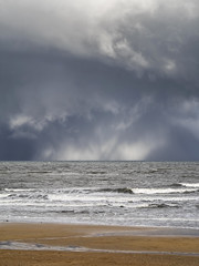 Kingsbarns Storm Clouds 004 v3 (KeithProvenArtist) Tags: seascape storm beach rain clouds landscape coast scotland waves fife dramatic shore kingsbarns olympusomd