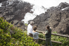 Field Ranger talking with Visitors at Devils Churn, Cape Perpetua, Siuslaw National Forest (Forest Service Pacific Northwest Region) Tags: siuslawnationalforest oregon oregoncoast fieldranger employee workforce visitors culturalresources devilschurn capeperpetua waves ocean geology geological heritage cultural employees staff people recreation activities thingstodo
