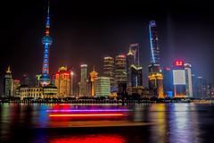 Shanghai Pudong Skyline at Night (PattyLK) Tags: world china new city longexposure light lights shanghai centre year jin trails mao pearl oriental pudong financial lunar jinmao swfc huangpuriver