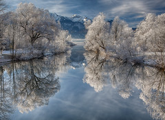 Perfect Winter Morning (Achim Thomae) Tags: winter reflection canon germany bayern deutschland bavaria oberbayern upperbavaria wintertime dezember spiegelung raureif idylle kochelsee winterlandschaft alpenlandschaft thomae achimthomae gettyimagesartist