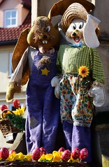 Easter bunny couple (:Linda:) Tags: germany easter town thuringia easteregg workwear bluey themar workingclothes