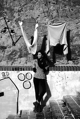 DSC_0119 (Stefanos Antoniadis) Tags: she portrait blackandwhite woman muro portugal girl wall donna model europa europe stair lisboa lisbon curvy bn lei laundry ricci scala walls ritratto sul biancoenero sud ragazza lisbona portogallo muri almada bucato nereid gradini modella riccia biancheria margemsul nereide