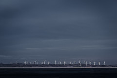 The Wind Soldiers (David Tao Photography) Tags: nature landscape army dawn twilight wind dusk horizon australia lakegeorge drought newsouthwales soldiers windfarm array foreshore turbines