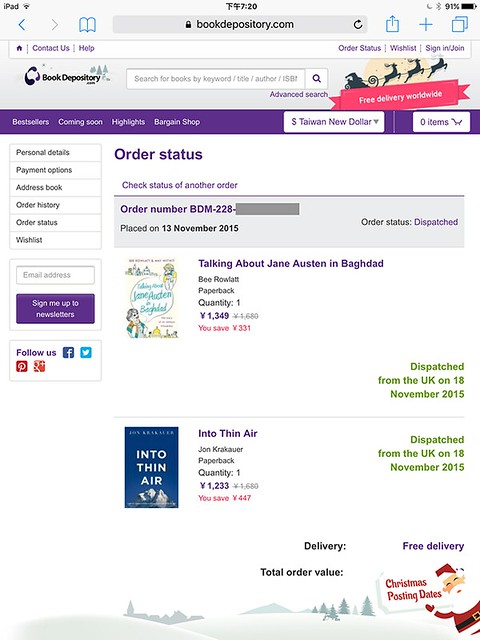 外文書 免運費 Book Depository