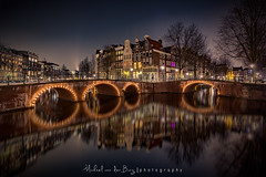 Quellijnbridge Amsterdam (mvdburg1971) Tags: holland reflection water amsterdam night le keizersgracht