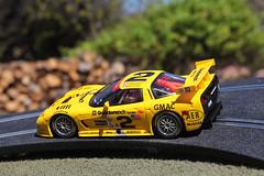 2001 Corvette C5R (twm1340) Tags: 2001 chevrolet scale car yellow fly chevy winner slot daytona corvette 132 c5r childhood20