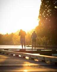 Green Lake (bombeeney) Tags: seattle sunset summer sun love yellow gold golden pier spring fishing dock couple lovers backlit pnw partners rimlight greenlakepark a7r zeissbatis85mm18