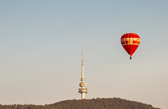 Telstra Tower (Daniel Hall - AUS) Tags: lake hot water balloons dawn day air australia canberra aus griffin act burley